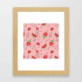 Summer Watermelon Ice Cream Framed Art Print