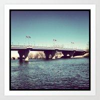 Founders Bridge Art Print