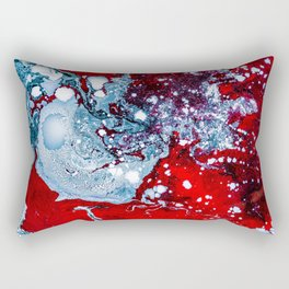 Red and Blue Texture (Color) Rectangular Pillow