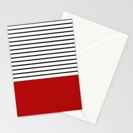 Simple design with stripes Stationery Cards