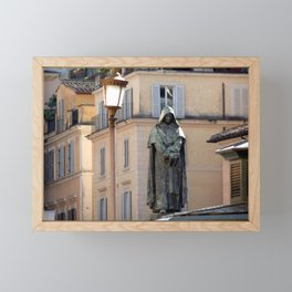 Giordano Bruno Monument, Rome, Italy Framed Mini Art Print