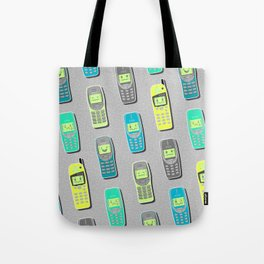 Vintage Cellphone Pattern Tote Bag