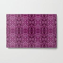 Purple Macro Glitter Pattern Metal Print