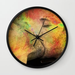 gay kiss Wall Clock