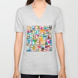 Tetris Monsters Unisex V-Neck