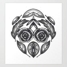 Floral Experiment Art Print