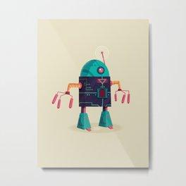 :::Mini Robot-Arpax::: Metal Print