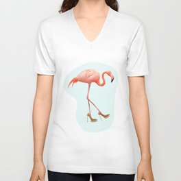 FANCY FLAMINGO Unisex V-Neck