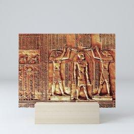 Egyptian Thoth Horus Hieroglyph Pyramid Mini Art Print