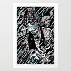 Time, Matter and Black Holes. Art Print