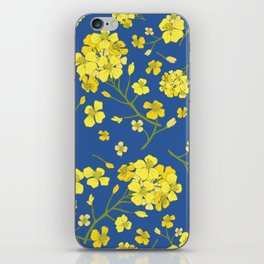 Floral Love of Mustard iPhone Skin