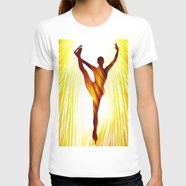 Ladies figure skating. Ballet dancer, ballerina. Winter sport ice rink T-shirt