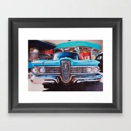mel's diner Framed Art Print