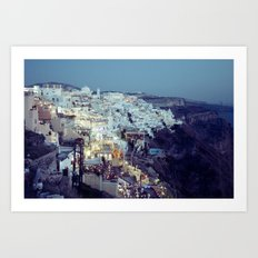 Fira at Dusk II Art Print