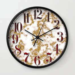 Luxury Gold Marble Wall Clock