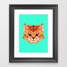 Geometric Kitten Framed Art Print