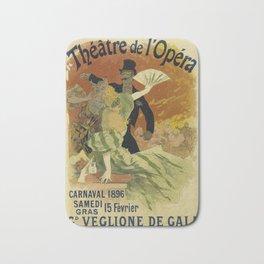 Theatre de l'Opera Carnaval 1896 - Jules Cheret Bath Mat