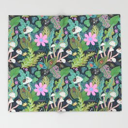 Beetle Pattern Throw Blanket