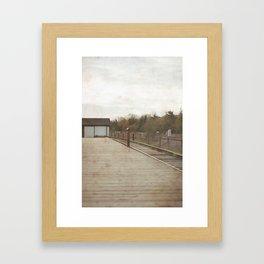 i go where you go  Framed Art Print