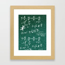 Math Equations Framed Art Print