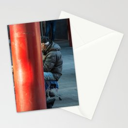 Milano Street musician Stationery Cards