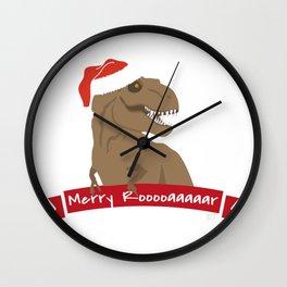 Chistmas Dino #1 Wall Clock