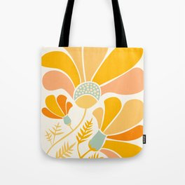 Summer Wildflowers in Golden Yellow Tote Bag
