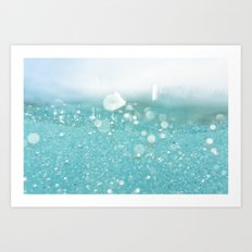 Undersea bubbles Art Print