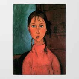 "Amedeo Modigliani ""Girl with Braids"" Poster"
