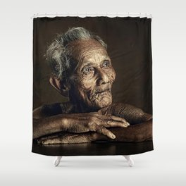 Old man 07 Shower Curtain