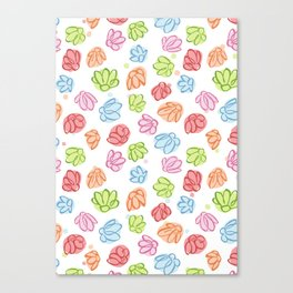 Wibbly Wobbly Flowers Canvas Print