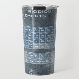 Tableau Periodiques Periodic Table Of The Elements Vintage Chart Blue Travel Mug