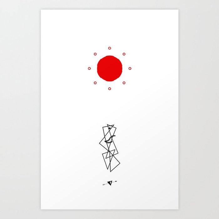 Mingling Art Print