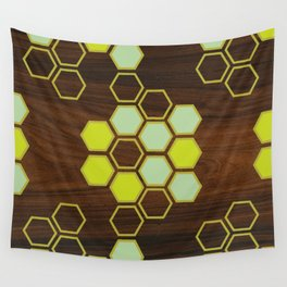 Hex in Green Wall Tapestry
