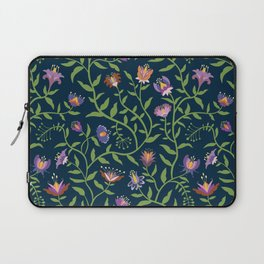 Folk Art Flowers Climbing Vines in Fall Colors Laptop Sleeve
