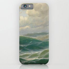 Vintage Ocean Oil Painting by Max Jensen iPhone Case