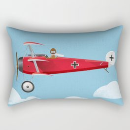 The Red Baron Rectangular Pillow