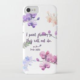 Paint Flowers iPhone Case