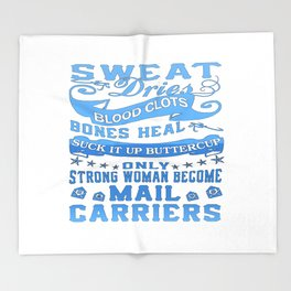 Mail Carrier Woman Throw Blanket
