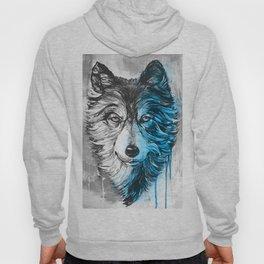 blue night wolf Hoody