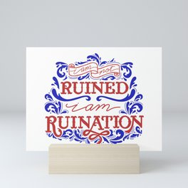 Grishaverse Quote Ruined Ruination Mini Art Print