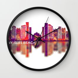 Sunny Isles Beach Florida Skyline Wall Clock