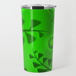 Pattern lime plant elements light green ethnic style. Travel Mug