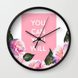 You Can & You Will Wall Clock