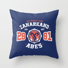 Zanarkand Abes Blitzball Athletic Shirt Distressed Throw Pillow