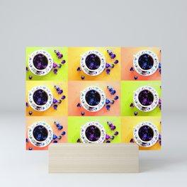 Tea Cups and Violets Mini Art Print
