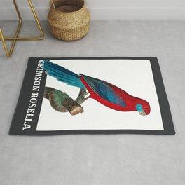 Parrot series - crimson rosella Rug