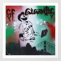 Mexican flag themed Sergio Romo SF Giants Gigantes Aerosol Stencil Art Painting by adamvalentinoart