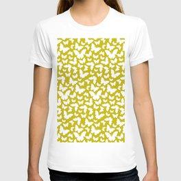 Butterfly pattern yellow T-shirt
