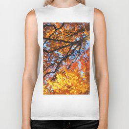 Autumnal colors in forest Biker Tank